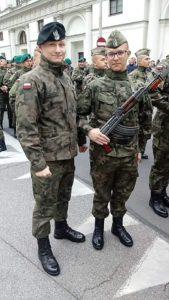 Kolejny absolwent klasy mundurowej złożył przysięgę wojskową.